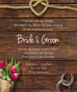 Dark Rustic Wedding Invitation