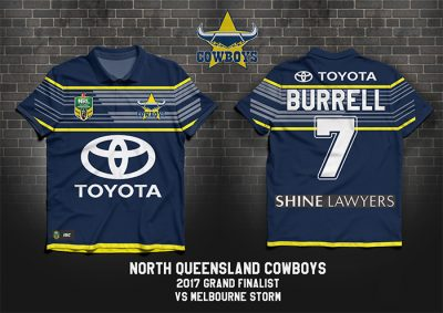 North Queensland Cowboys PERSONALISED Poster