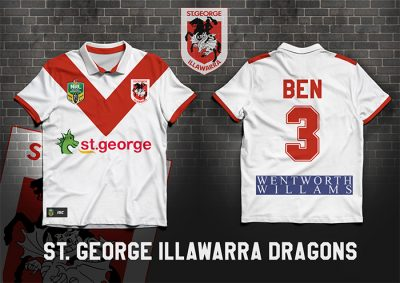 St George Illawarra Dragons PERSONALISED Poster