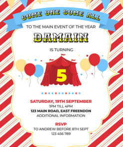 Kids Carnival Party Invitation
