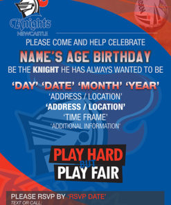 Newcastle Knights Party Invitations