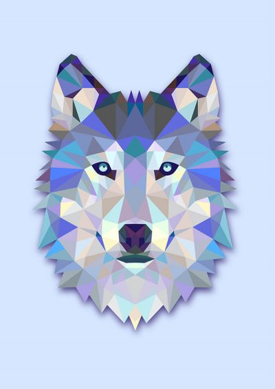 Triangle Blue Wolf