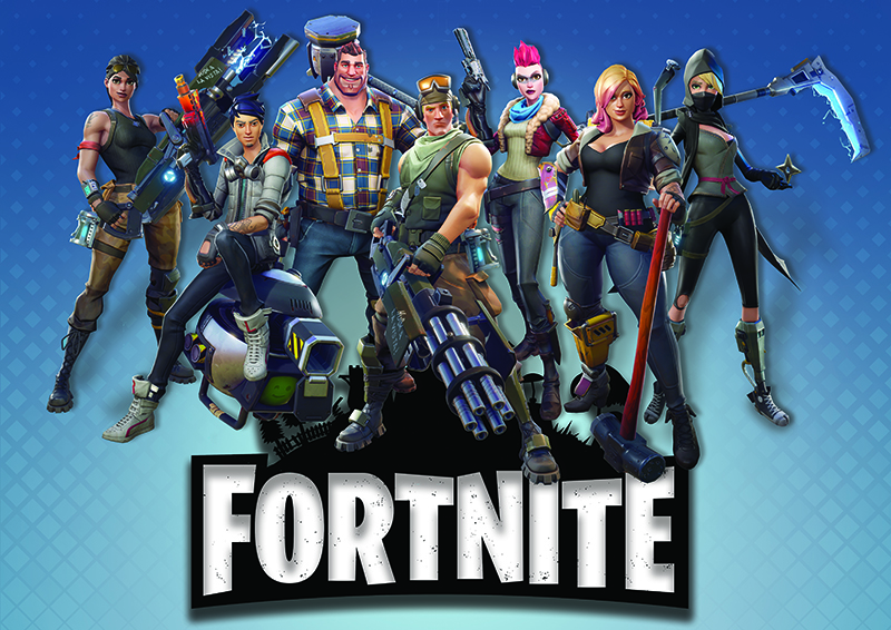 Fortnite Wall Poster Mixed Design Large Poster