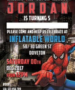 Spider man Birthday Invitation