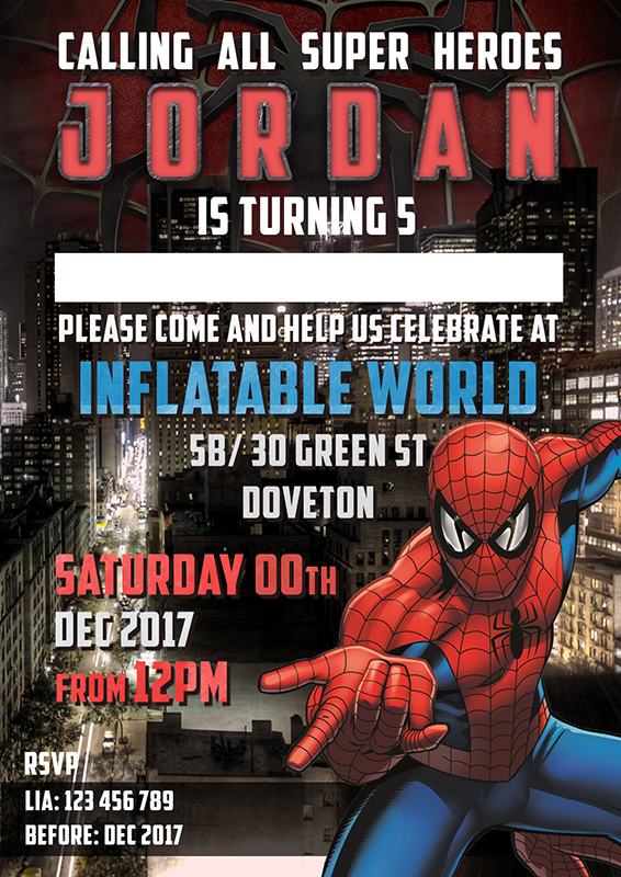 Spider senses tingling its a spider man birthday invitation mixed spider man birthday invitation stopboris Choice Image