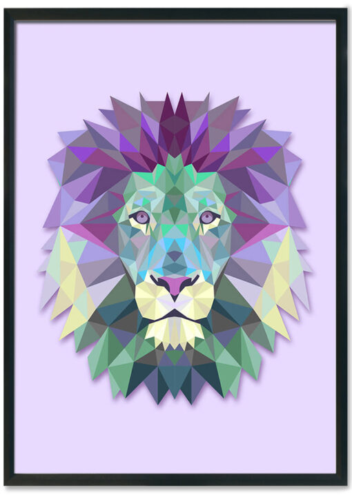 Purple GEO lion