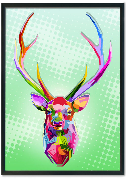 Colorful-deer-head-pop-art