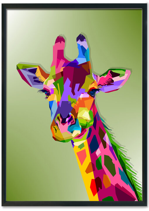 Colorful-wildlife-giraffe