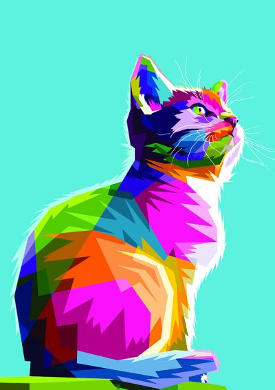Poly PopArt - Cool Cat