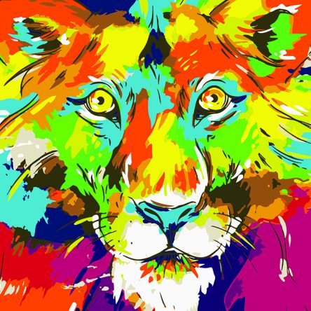 Poly PopArt – A Lion King