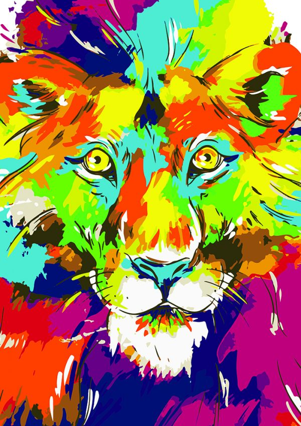 Poly PopArt - A Lion King