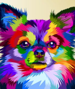 Poly PopArt - Colourful Chihuahua Dog