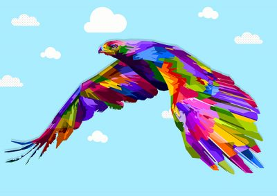 Poly PopArt - Flying Eagle