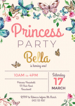Butterfly Flower Party Invitation