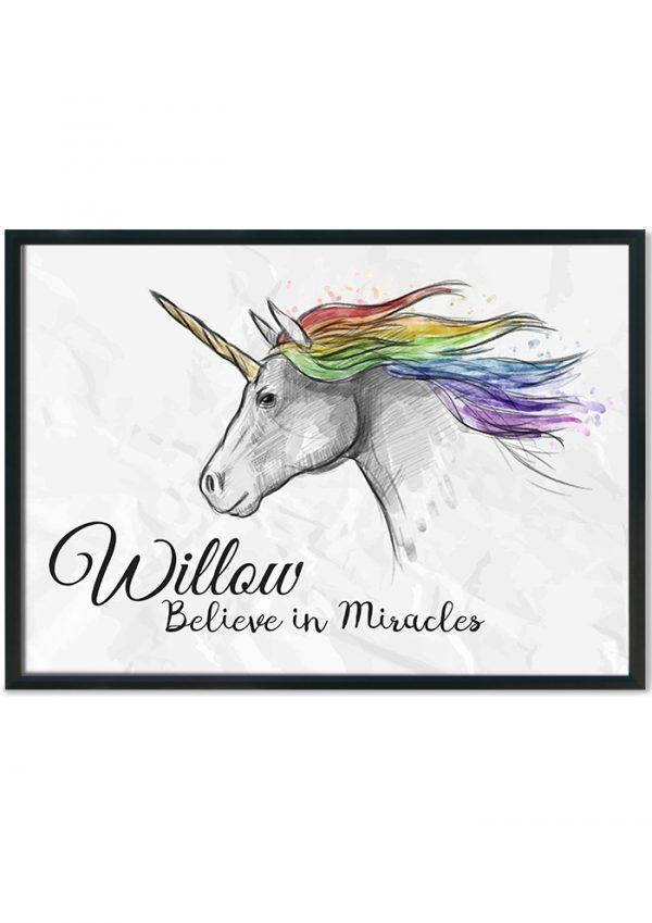 Believe in Miracles hand drawn
