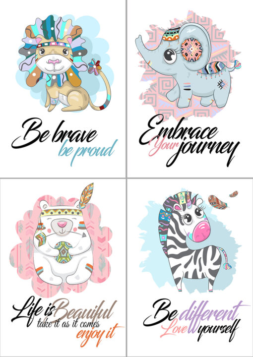 Baby Boho Nursery Animals