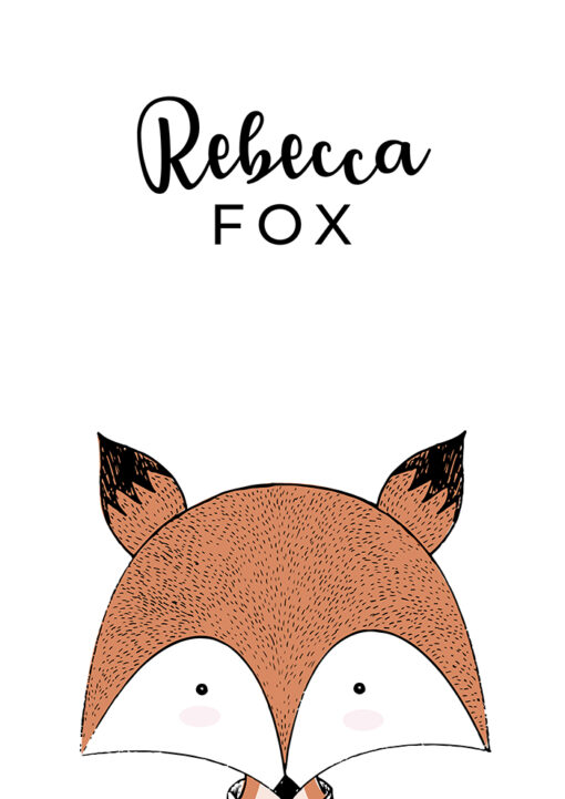 Hand Drawn Nursery Fox Print