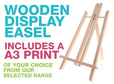 Wooden Display A3 Print Easel