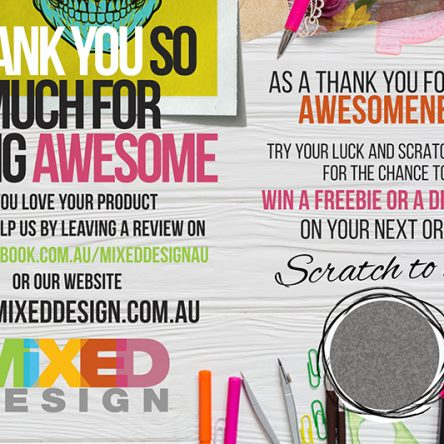Scratch to win Thank you cards | large size