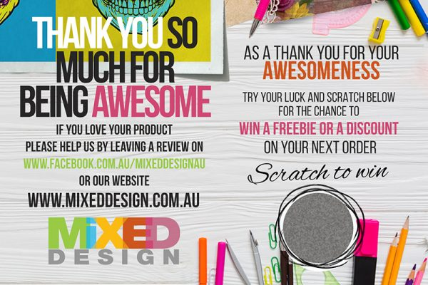 Scratch to win Thank you cards
