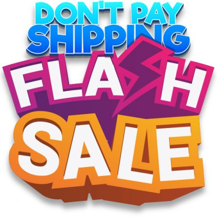 Don't Pay shipping Flash Sale Poster