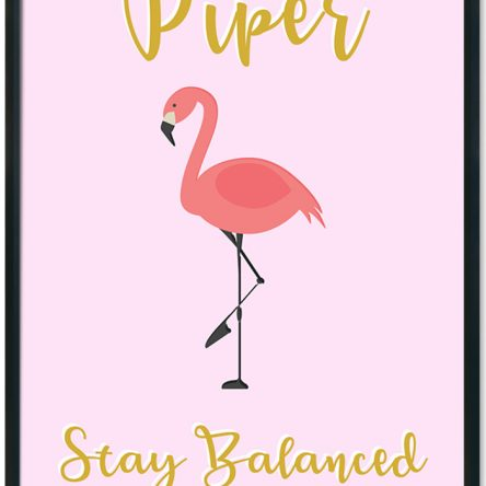 Stay Balanced Personalised Flamingo