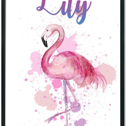 Water coloured Flamingo Print