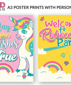 Unicorn Party Pack - A3 posters