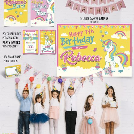 Unicorn Party Pack – Yellow and Pink