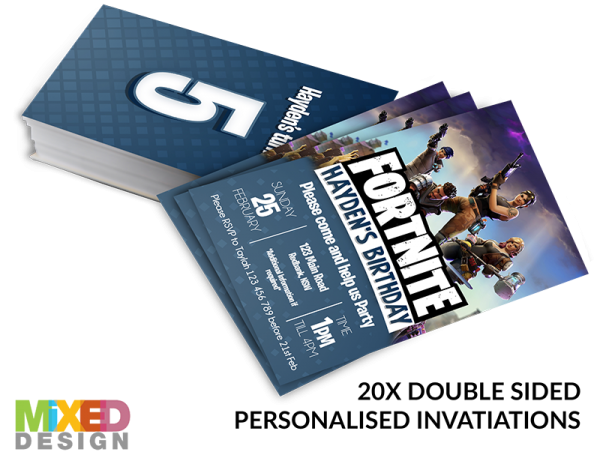Fortnite party invitations