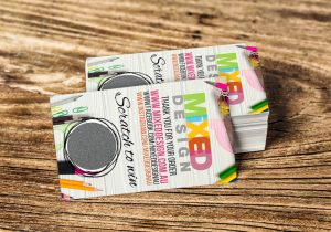Mixed Design Scratch and Win Cards