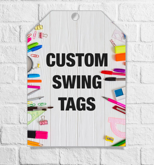 custom swing tags