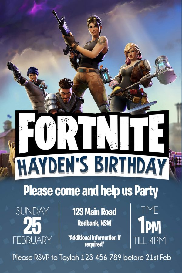 fortnite invite front