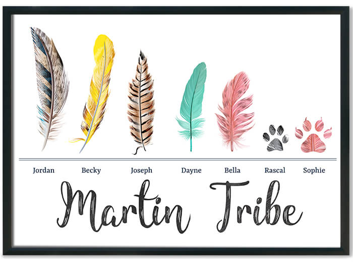 Feather Family Roblox Games For Free My Family My Tribe Print Prints Your Way At Mixed Design