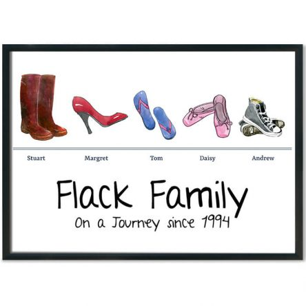 My Shoes Family Print