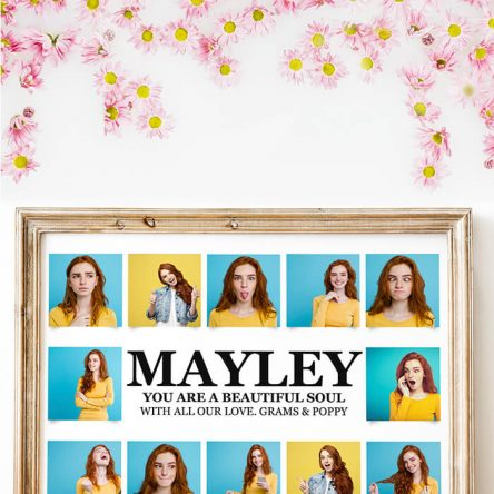 12 Photo Custom Name Print