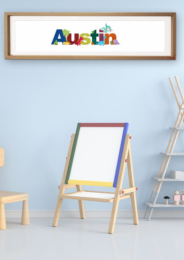 Dinosaur Framed Name Print