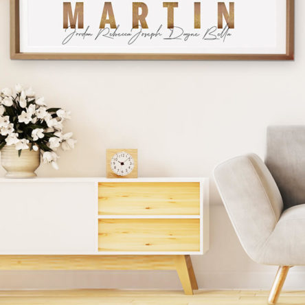 Bronze framed name prints