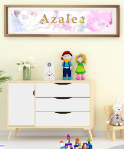 Girls Watercolour Name Print