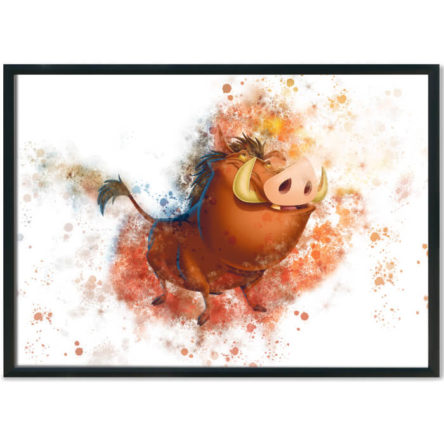Lion King Pumbaa Splash Print