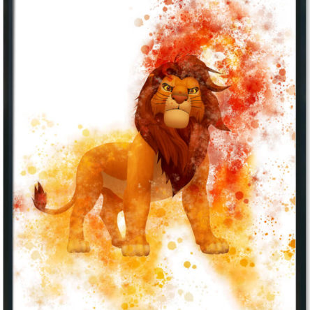 Lion King Simba Splash Print