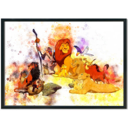 Lion King Splash Print