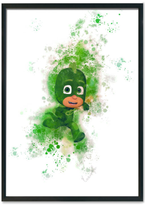 %%title%%   Our Range of PJ Mask Prints in our Splash design. These make for an awesome print in the Children's room or any PJ Mask lover.