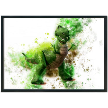 Toy Story Rex Splash Print