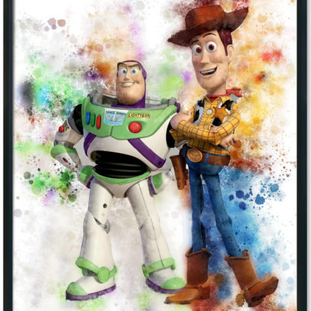 Toy Story Wood and Buzz Splash Print