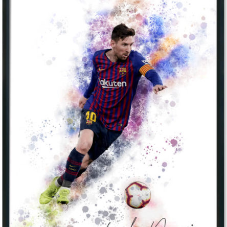 Lionel Messi Splash Print