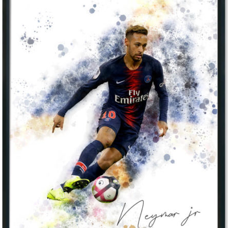 Neymar jr Splash Print
