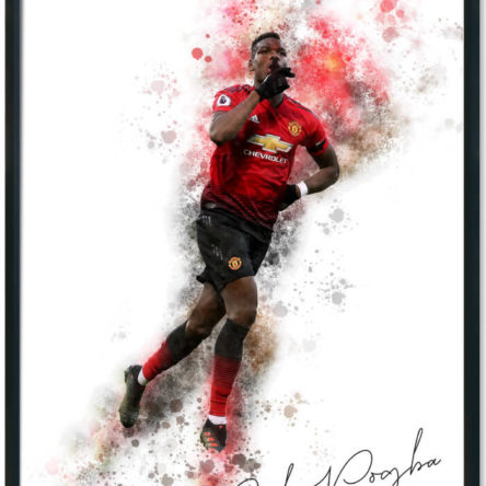 Paul Pogba Splash Print