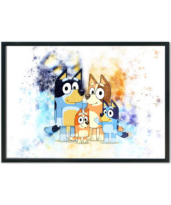 Bluey family splash print