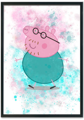 Daddy Pig Splash Print